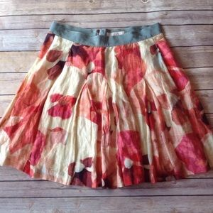 Ann Taylor Loft water color floral print skirt